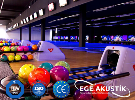 bowling salonu akustik ses yalıtımı izolasyonu