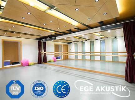 dans salonu akustik ses yalıtımı izolasyonu