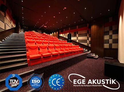 sinema salonu akustik ses yalıtımı izolasyonu